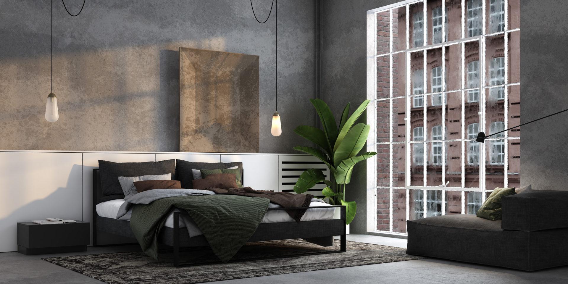 Kontynentalne modernistyczne łóżka HYPNO.